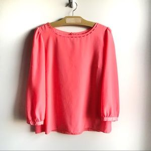 J. Crew Factory Scalloped Collar Top Blouse